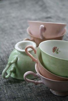Lovely pastel color cups