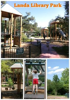 Landa Library Park in San Antonio, Texas: great for kids, families, dogs, birthday parties, and photo shoots