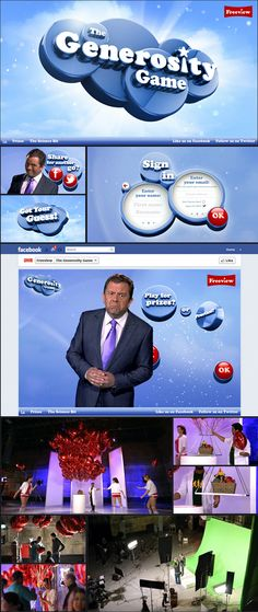 The Generosity Game, Interactive online game show for Freeview.  Shortlisted on FWA.  Click picture to see award video.