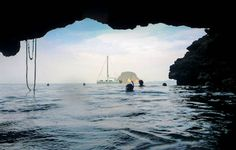 Sail Thailand:  the SeaScape SAS team, ready for their underwater stealth mission.  Emerald Cave, Ko Muk.