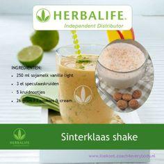 Herbalife sinterklaas shake recept Smoothie Diet, Smoothies, Herbalife Tips, Dieet Plan, Shake Recipes, Meal Recipes, Healthy Living, Food And Drink, Meals
