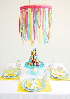 Party Printables | Party Ideas | Party Planning | Party Crafts | Party Recipes | BLOG Bird's Party: Easter Kids Brunch as Seen on Yum Food a...
