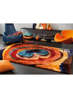 Tapis shaggy multicolore - Collection Funky - Arte Espina