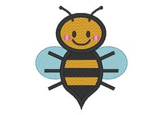 Bumble Bee Embroidery Design by OCDEmbroidery on Etsy, $3.75