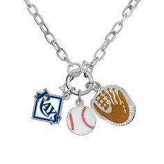 Tampa Bay Rays MLB Ladies Charm Necklace