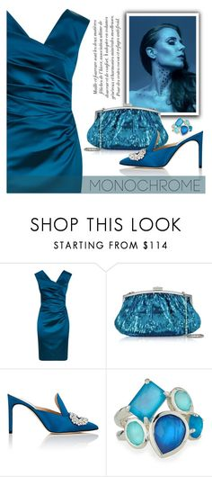 """Blue Dress"" by divni ❤ liked on Polyvore featuring Talbot Runhof, Julia Cocco', Giannico, Ippolita and Blue"