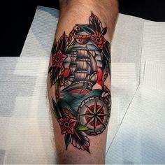 OLDLINES — #tattoo by @kirk_jones  #tattoos #tattooart...