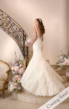 Wedding Dresses - Vintage Lace Wedding Dress by Stella York.