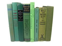 Green I Instant Library  8 Book Collection by VintageGypsies, $32.00