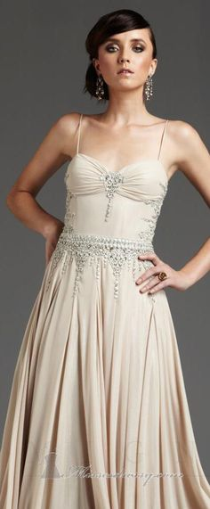 Maybe if there was some more beading around the chest and no ruching, forget the straps too....