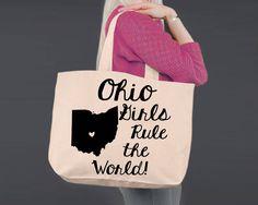 Ohio | Personalized Canvas Tote Bag