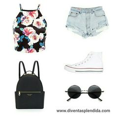 #outfit   #estivo   #sneakers  #jeans Segui 💗💗💗 www.diventasplendida.com 💗💗💗