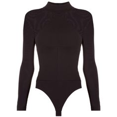 Kendall Kylie Long Sleeve Bodysuit ($200) ❤ liked on Polyvore featuring intimates and shapewear