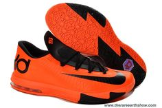 New 599424-800 Nike Zoom KD 6 Total Orange Black