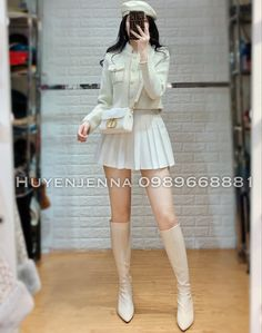 Cute Skirt Outfits, Boujee Outfits, Kpop Fashion Outfits, Pretty Outfits, Beautiful Outfits, Korean Fashion Dress, Ulzzang Fashion, Asian Fashion, Classy Work Outfits