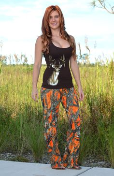 Sporty Girl Apparel - ORANGE camo pants , $29.99 (http://www.sportygirlapparel.com/orange-camo-pants/)