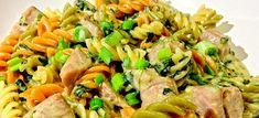 Δες εδώ μια πολύ εύκολη, δροσερή και νόστιμη ιδέα για να φτιάξεις ΤΟΝΟΣΑΛΑΤΑ ΜΕ ΖΥΜΑΡΙΚΑ, μόνο από την Nostimada.gr Snack Recipes, Snacks, Kung Pao Chicken, Finger Foods, Pasta Salad, Salads, Sweets, Meat, Ethnic Recipes