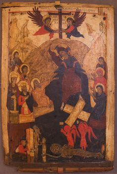 Icon: Descent into Hell (Сошествие во ад), late 15th Century, Rostov Province