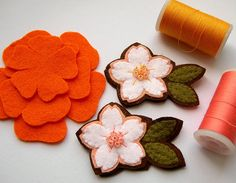 for kids' hair?: handmade felt flowers for just about any application