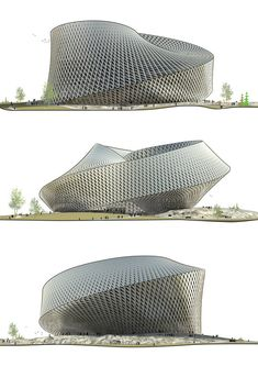 National Library in Astana,  Kazakhstan / BIG,Elevations