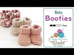 Learn how to crochet a pair of crochet baby booties that have a rolled down cuff on the top. These make for gender neutral booties. Free pattern and more inf...