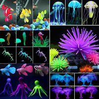 Aquarium Fish Tank Landscaping Decor Glowing Effect Animal Plants Water Ornament