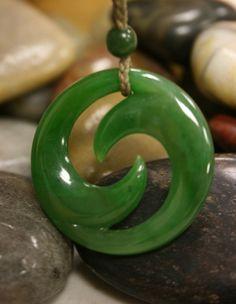 Double Koru jade pendant