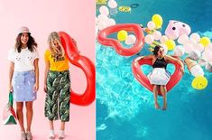 Pool heart floats! If you're dead-set on giving your heart away this summer... make sure it's inflatable and in the hands of someone who'll treat it reaaaaaal careful-like.  Photo: ban.do