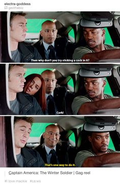 Haha! Captain America The Winter Soldier gag reel