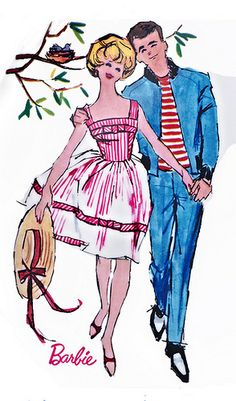 "Barbie and Ken ""Perfect Date"" Illustration, 1960's"