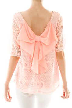 Lace Detail Bow Back Top Cute Fashion, Modest Fashion, Fashion Outfits, Preppy Fashion, Womens Fashion, Pretty Outfits, Cute Outfits, Summer Outfits, Passion For Fashion