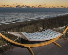 Relax and unwind this summer with your own $330.00 pillowtop Hammock from Nags Heads Hammocks! Like none other, this is the creme de la creme of hammocks, handmade right here in the USA! The spreader bars are made of Southern white oak.