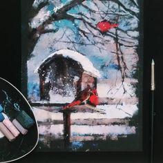 Зимние и уютные зарисовки на наждачке с прошедшего интенсива в @kalachevaschool А уже на этой неделе будет мое задание для #арт_баттл. Следите за новостями! #kalachevaschool #pastel #softpastel