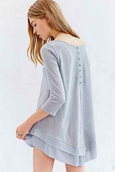 Kimchi Blue Button-Down Her Back Tunic Top