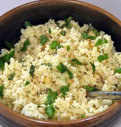 Parmesan Couscous with Roasted Garlic, Toasted Pine Nuts and Caramelized Onions