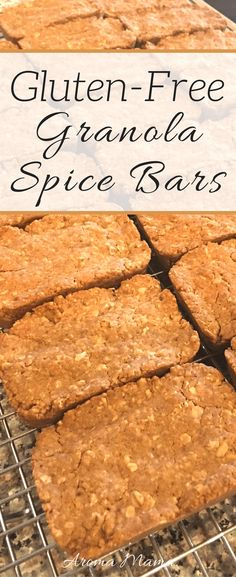 These gluten-free granola spice bars are great as a snack or as a dessert. They are easy to make and easy to pack for school or work. via @thearomamama