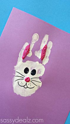 Bunny Rabbit Handprint Craft For Kids (Easter Idea) - Sassy Dealz