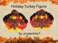 ▶ New 3D Holiday Turkey Figure /Charm - Rainbow Loom - Thanksgiving Fall - YouTube