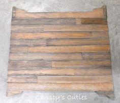 Wood floor photo prop DIY