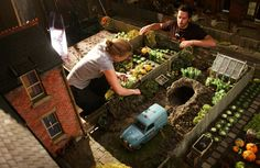 Aardman: filming WALLACE AND GROMIT CURSE OF THE WERERABBIT (2005)