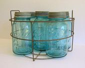 I LOVE antique canning jars. I Ike to keep beans, rice, or hand soap in them. :)