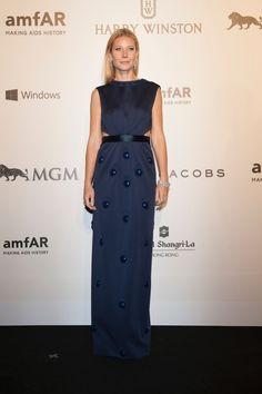 Gwyneth Paltrow in Marc Jacobs at the 2015 amfAR Hong Kong Gala.