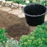 Sunken Container - another great and easy pond idea