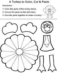 Easy Color Cut Paste Turkey To Make With Kids Get Them Ready For Thanksgiving