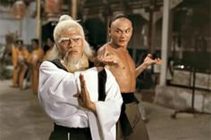 """Gordon Liu squares up to Lo Lieh's Pai Mei in """"Clan of the White Lotus"""". Years later, Gordon would actually play the same character in Quentin Tarantino's """"Kill Bill"""". Kung Fu Martial Arts, Martial Arts Movies, Martial Artists, Kung Fu Techniques, Gordon Liu, Kung Fu Movies, Best Action Movies, Movies 2014, Art Movies"""