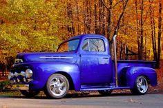 AutoTrader Classics - 1951 Ford Blue 8 Cylinder Other Old Trucks, Pickup Trucks, Classic Trucks, Classic Cars, Alaska, 1951 Ford Truck, Camper Boat, Old Pickup, Ford F Series