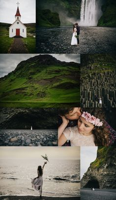 Iceland Elopement - Wear Your Love - Charis Rowland Photography - Skogafoss - black sand beach - church in Vik