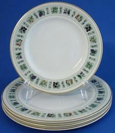 Royal Doulton Tapestry 3 Salad Plates 1 Bread Butter Plate | eBay