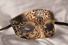 Black Venetian Mask for Men