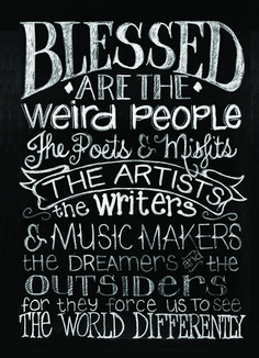 Melissa Frances - Blackboard Canvas Print - Blessed are the Weird at Scrapbook.com